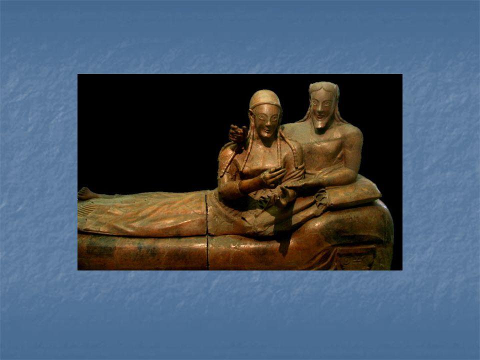 Etruský sarkofág znázorňující manželský pár, 6. století př.n.l.