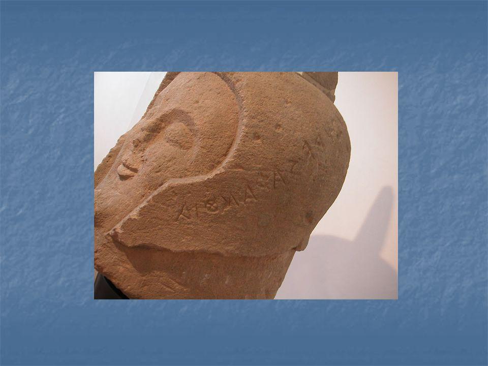 Detail hlavy etruského bojovníka, 6.stol.př.n.l., Villa Giulia
