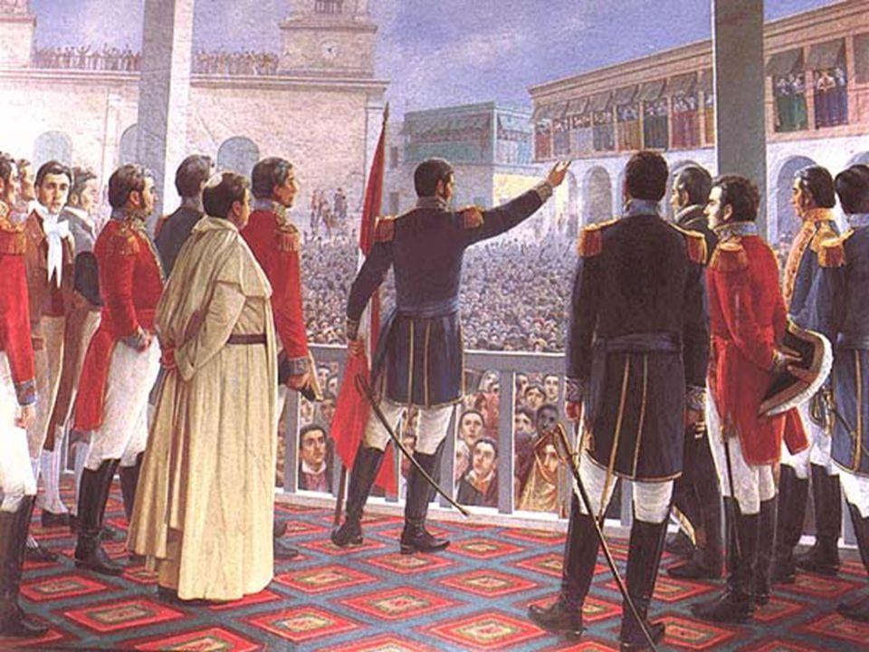 Prohlášení nezávislosti Peru 28.7.1821 v Limě, Peru