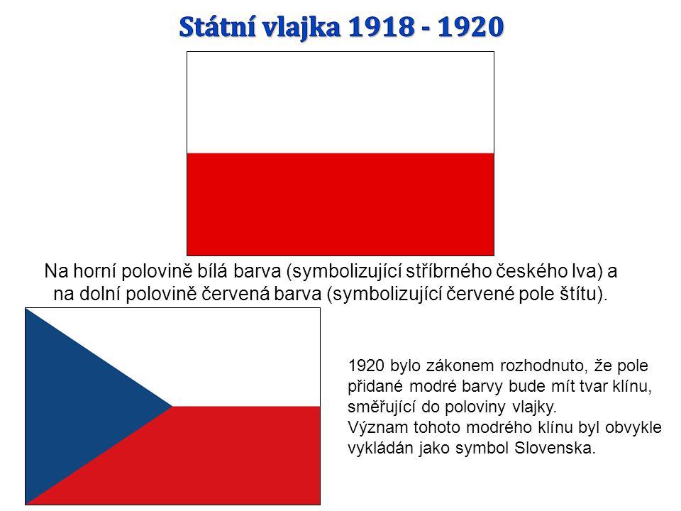 Státní vlajka 1918 - 1920
