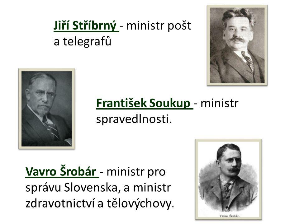 Jiří Stříbrný - ministr pošt a telegrafů