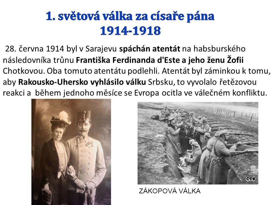 1. světová válka za císaře pána 1914-1918