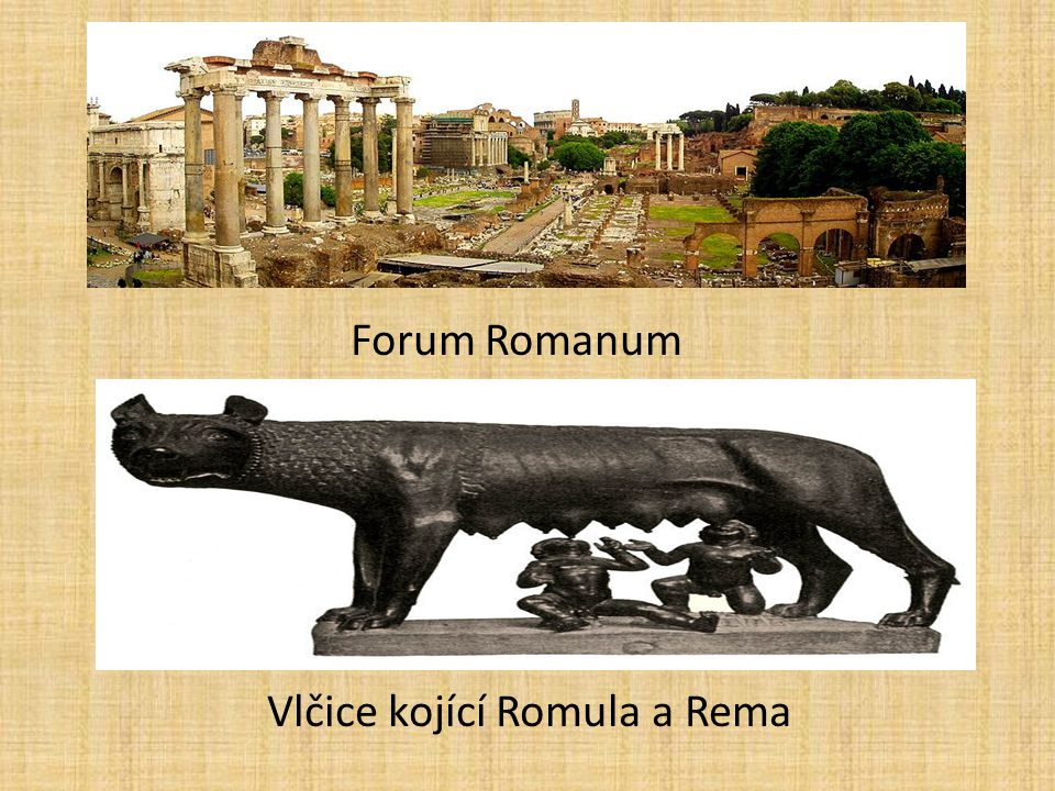 Forum Romanum Vlčice kojící Romula a Rema