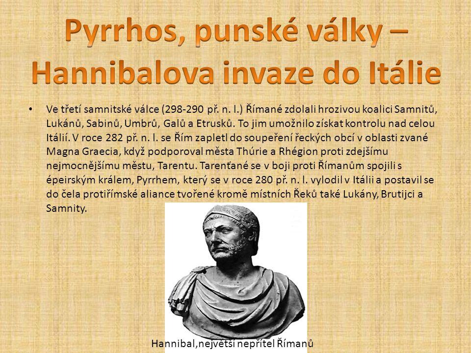 Pyrrhos, punské války – Hannibalova invaze do Itálie