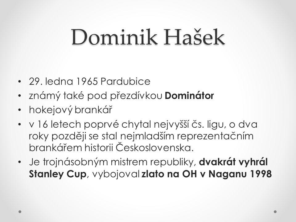 Dominik Hašek 29. ledna 1965 Pardubice