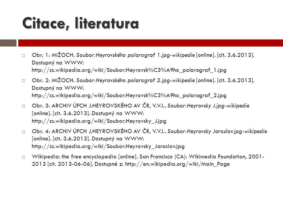 Citace, literatura