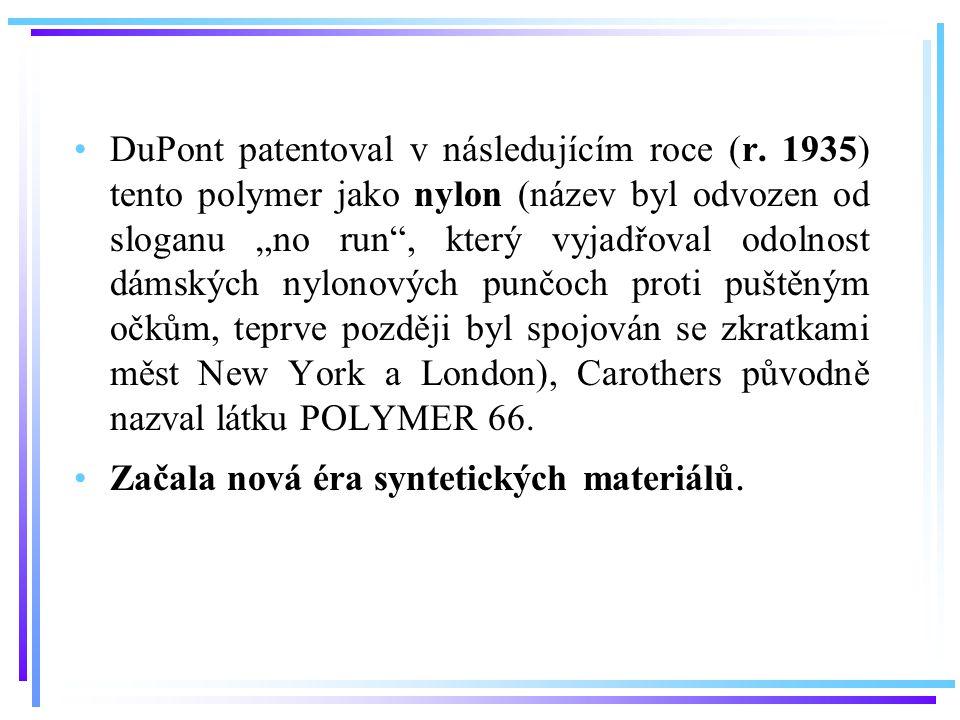 DuPont patentoval v následujícím roce (r