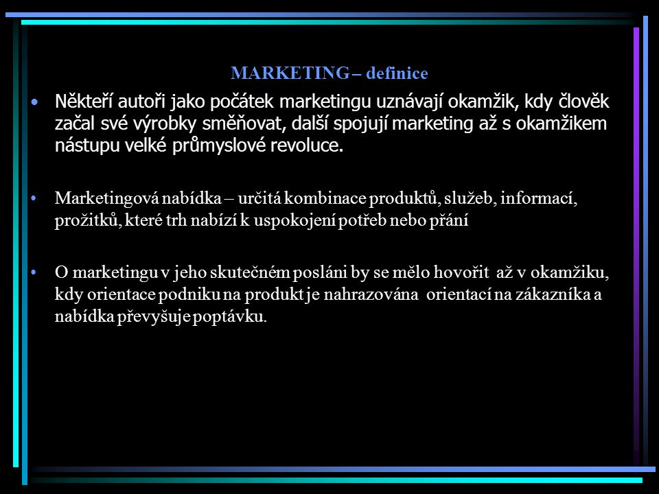 MARKETING – definice