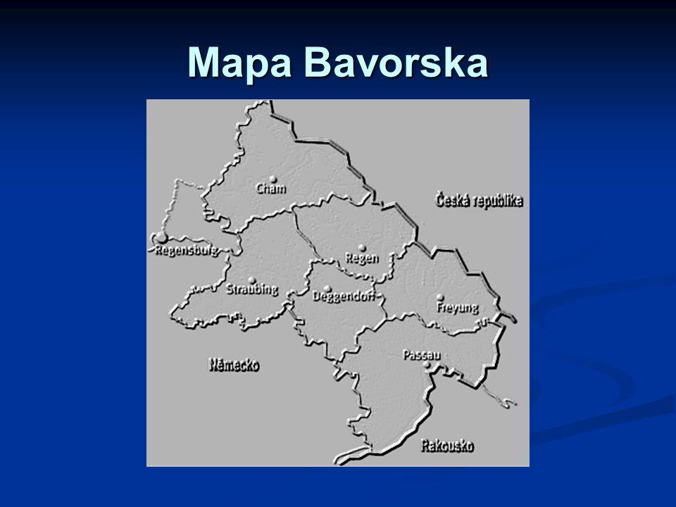 Mapa Bavorska Bla bla bla