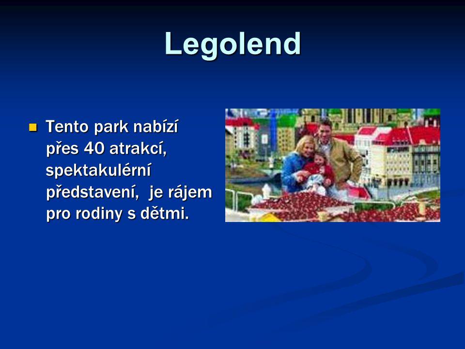 Legolend Tento park nabízí přes 40 atrakcí, spektakulérní představení, je rájem pro rodiny s dětmi.