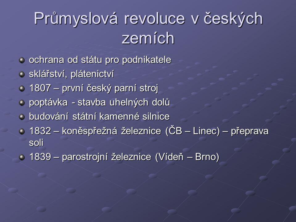Průmyslová revoluce v českých zemích