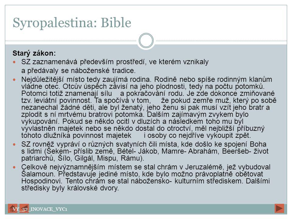Syropalestina: Bible Starý zákon: