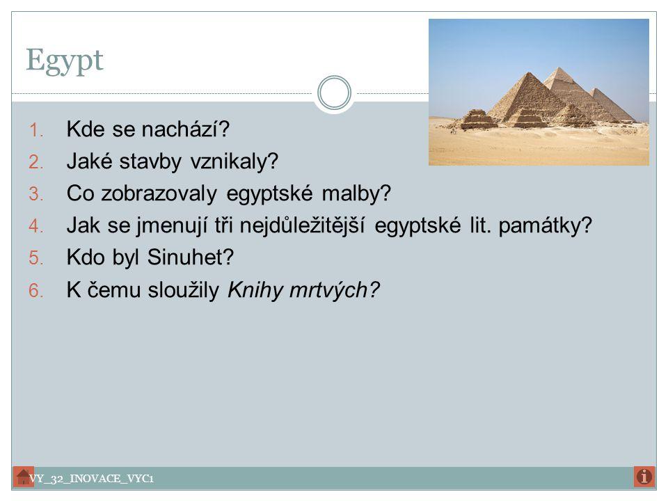 Egypt Kde se nachází Jaké stavby vznikaly