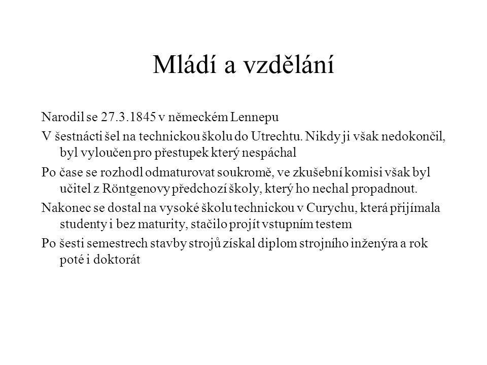 Mládí a vzdělání Narodil se 27.3.1845 v německém Lennepu