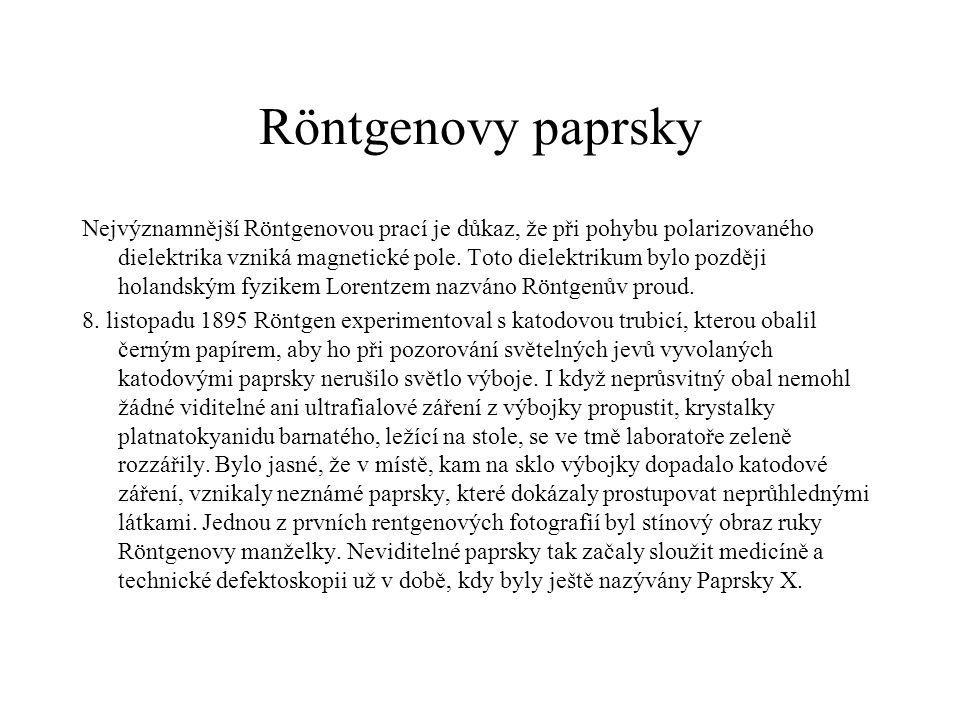 Röntgenovy paprsky