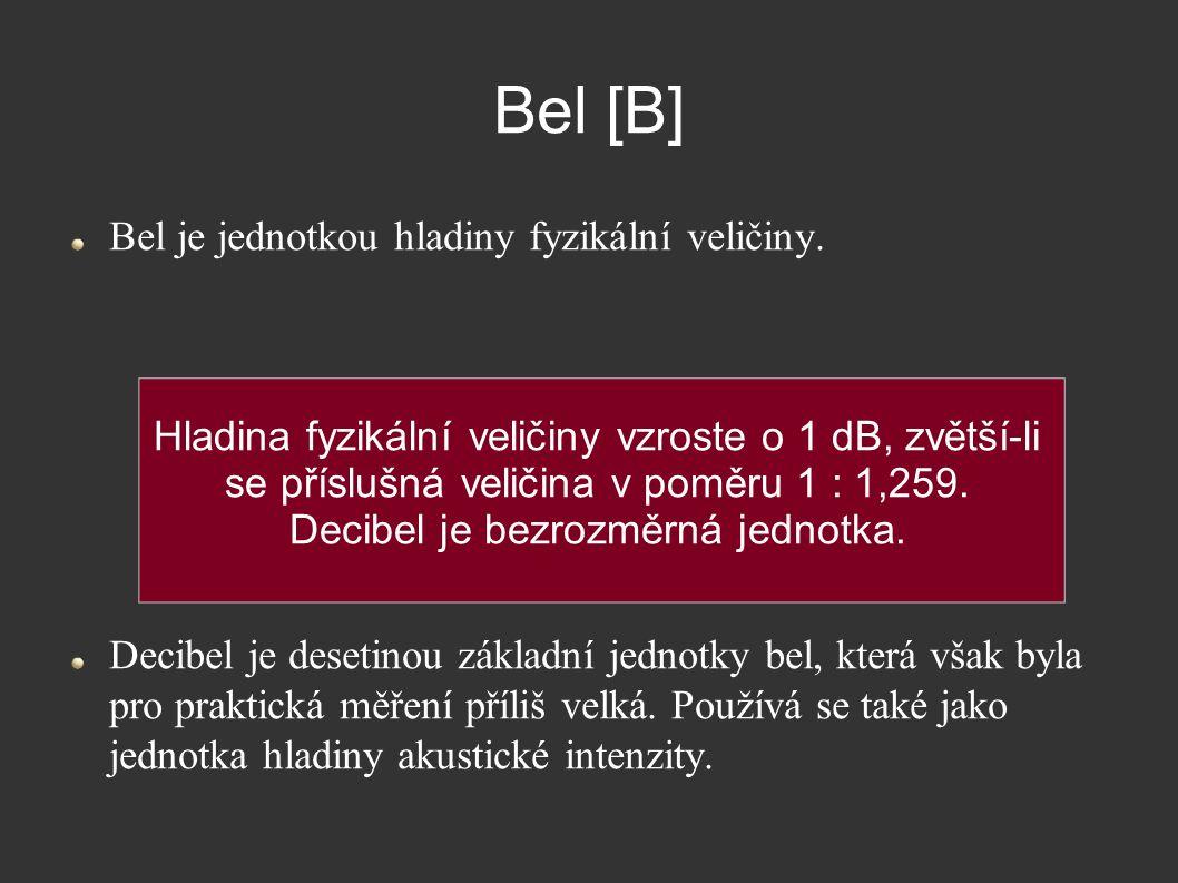 Decibel je bezrozměrná jednotka.