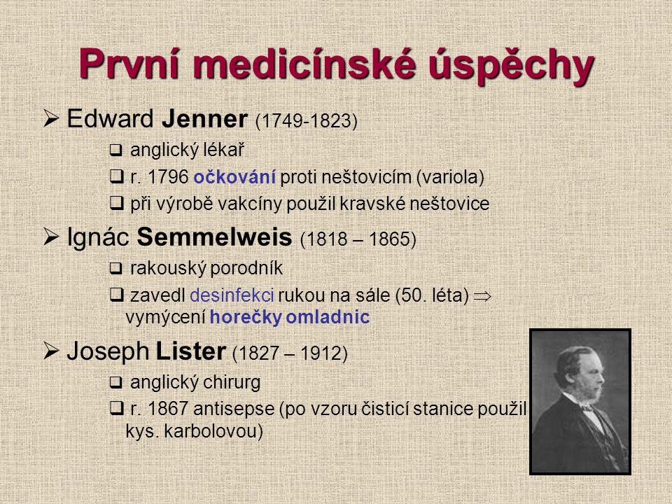 První medicínské úspěchy