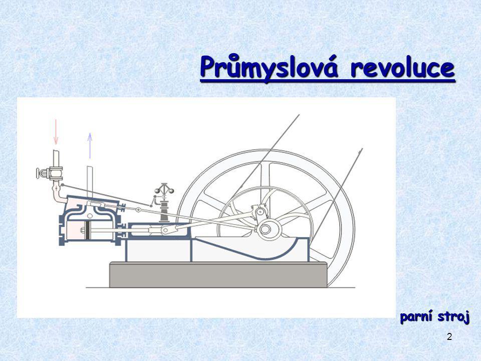 Průmyslová revoluce parní stroj