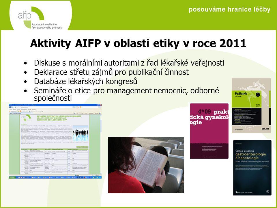 Aktivity AIFP v oblasti etiky v roce 2011
