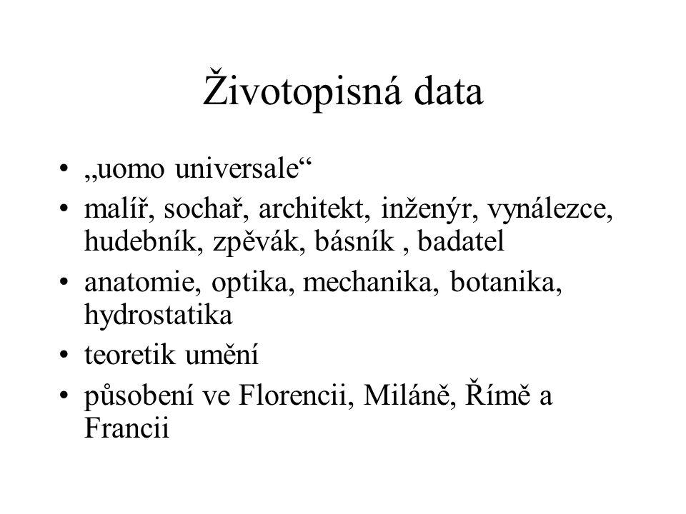 """Životopisná data """"uomo universale"""