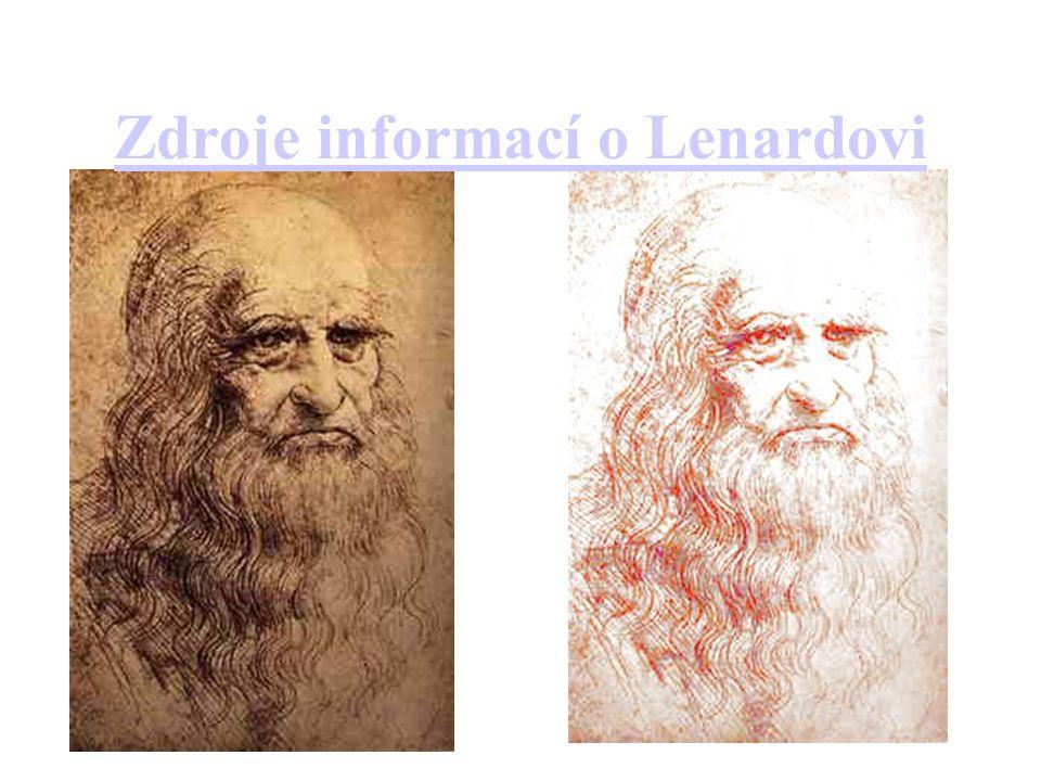 Zdroje informací o Lenardovi