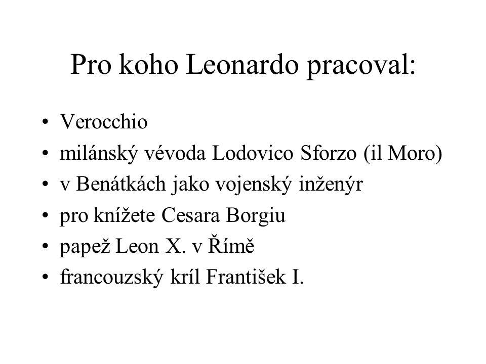 Pro koho Leonardo pracoval: