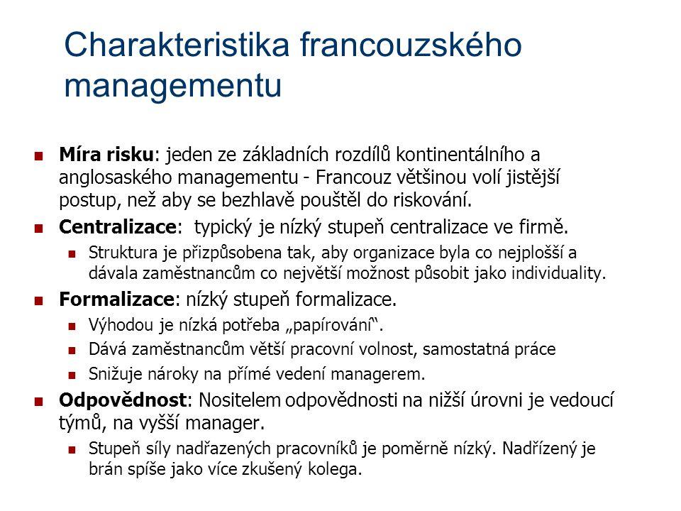Charakteristika francouzského managementu