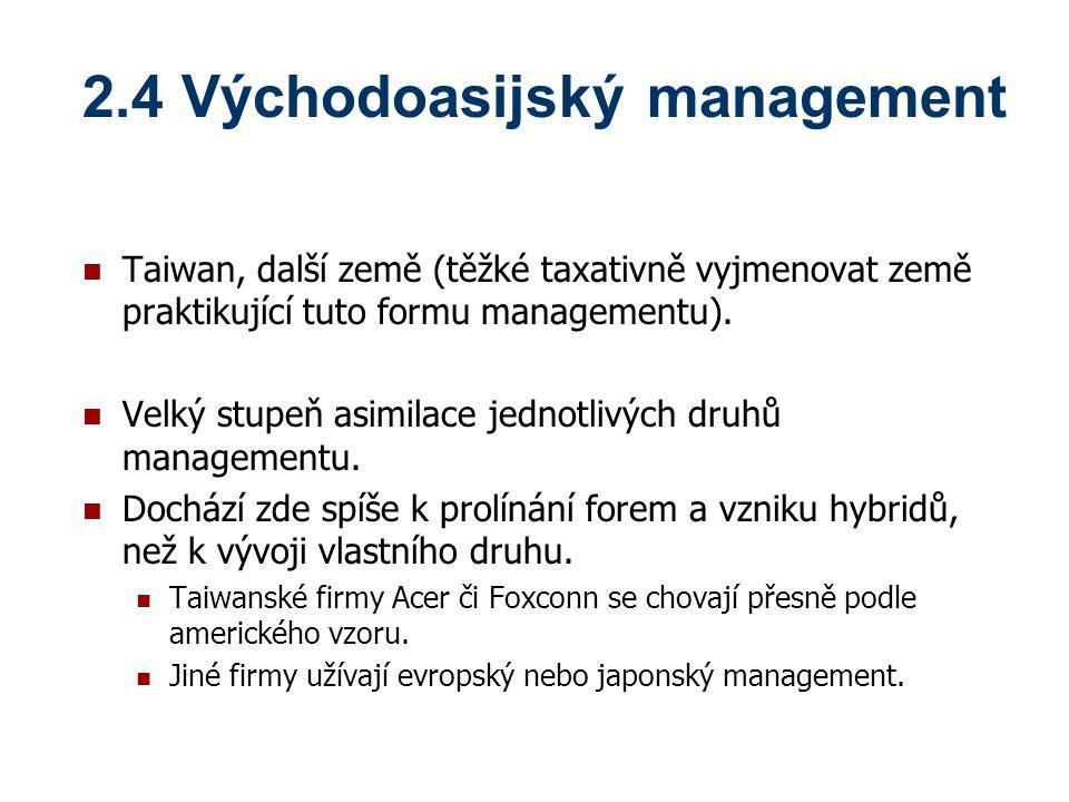 2.4 Východoasijský management