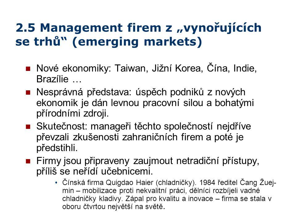 """2.5 Management firem z """"vynořujících se trhů (emerging markets)"""