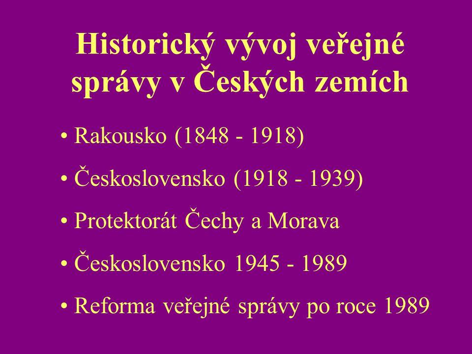 Historický vývoj veřejné správy v Českých zemích