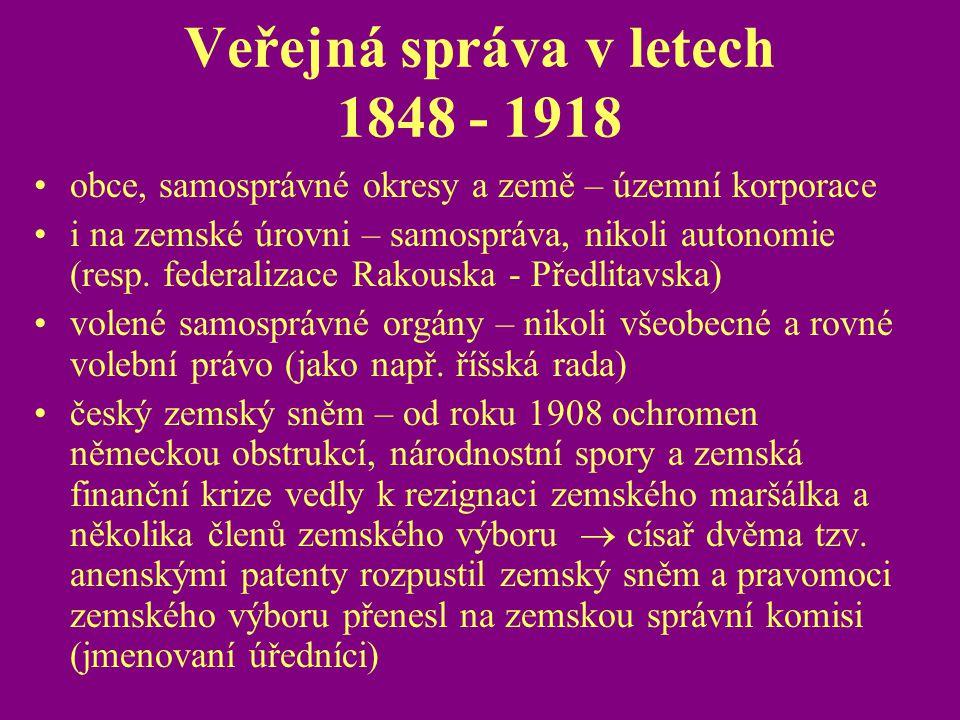 Veřejná správa v letech 1848 - 1918