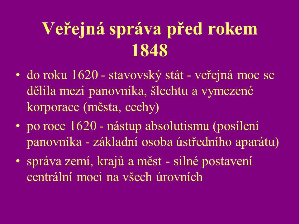Veřejná správa před rokem 1848