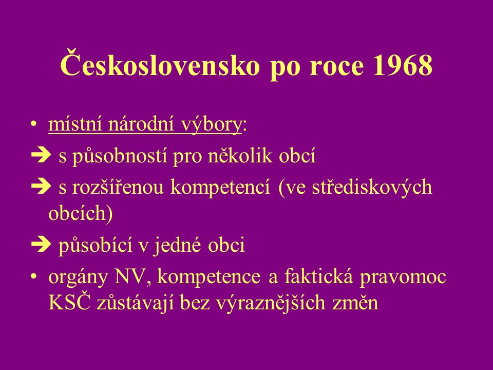 Československo po roce 1968