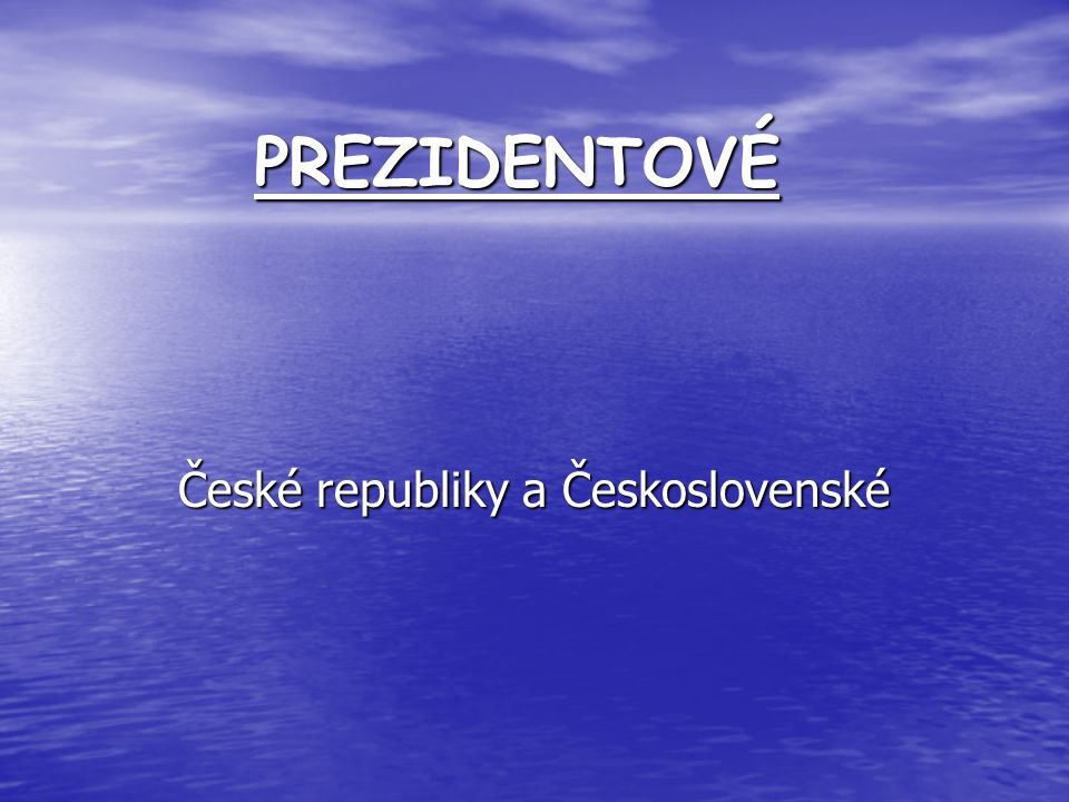 České republiky a Československé