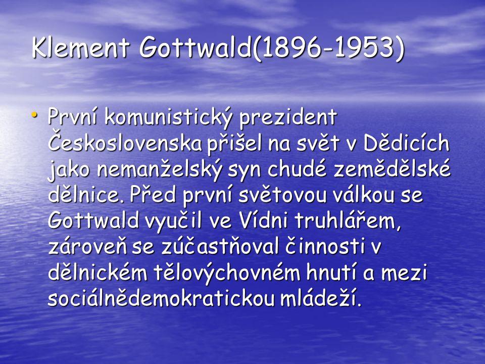 Klement Gottwald(1896-1953)