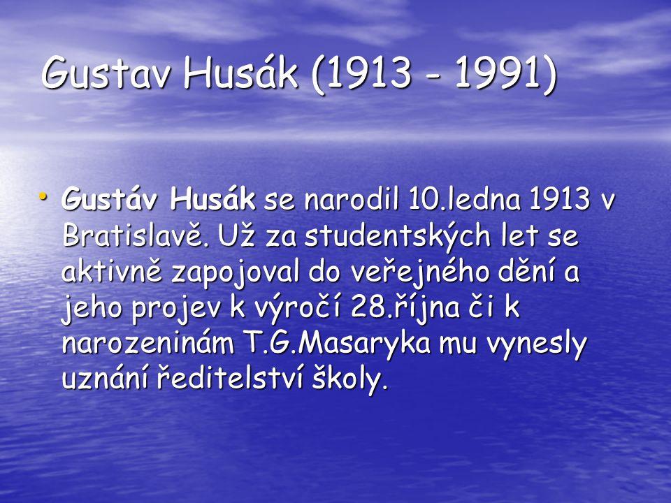 Gustav Husák (1913 - 1991)