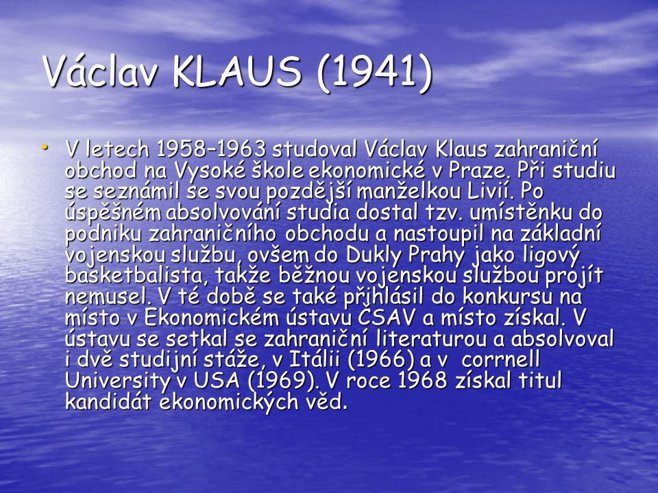 Václav KLAUS (1941)