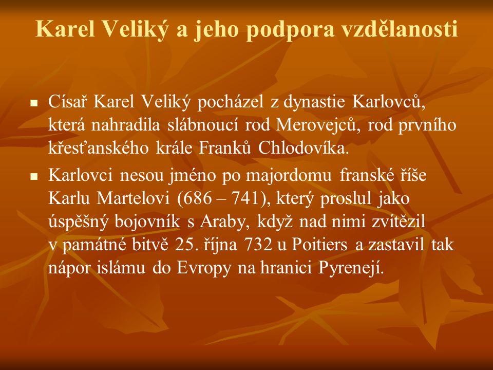 Karel Veliký a jeho podpora vzdělanosti