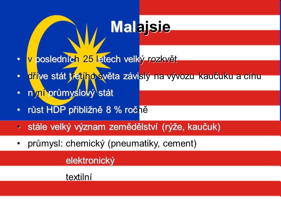 Malajsie v posledních 25 letech velký rozkvět