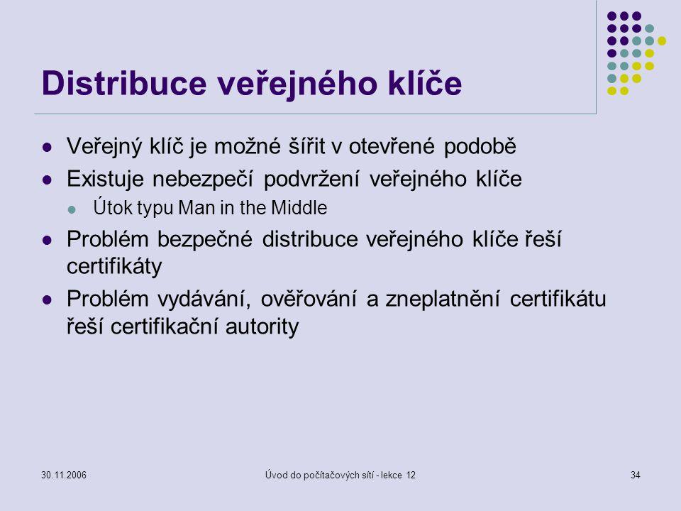 Distribuce veřejného klíče