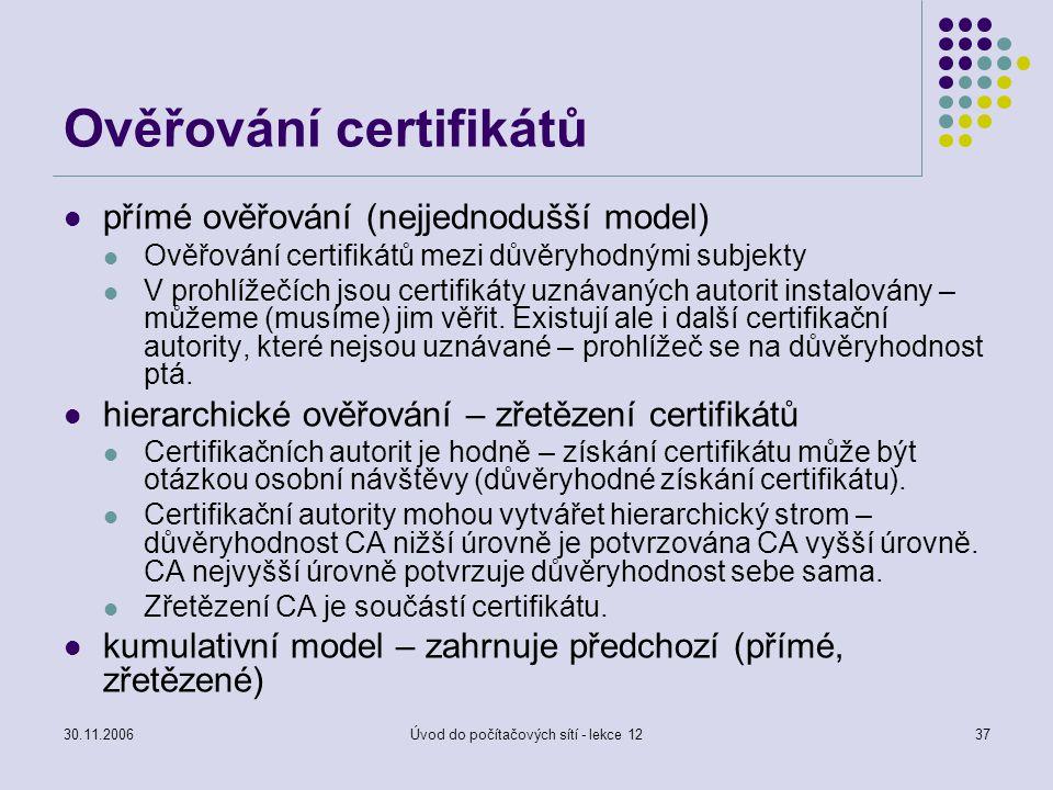 Ověřování certifikátů