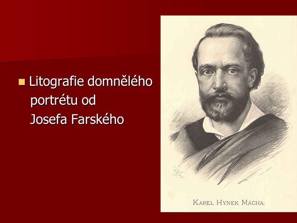 Litografie domnělého portrétu od Josefa Farského