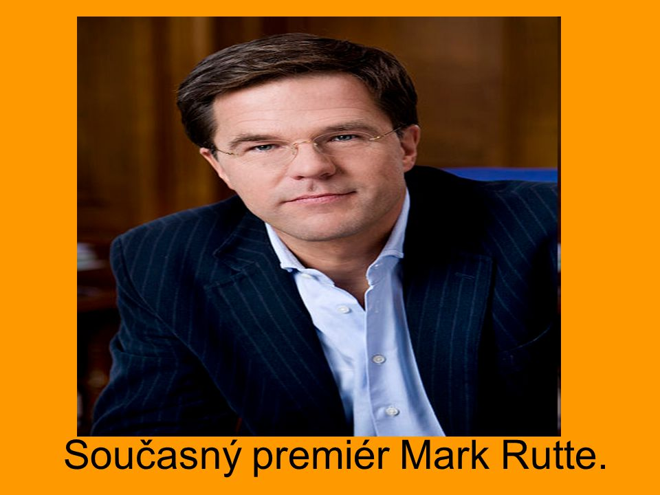 Současný premiér Mark Rutte.
