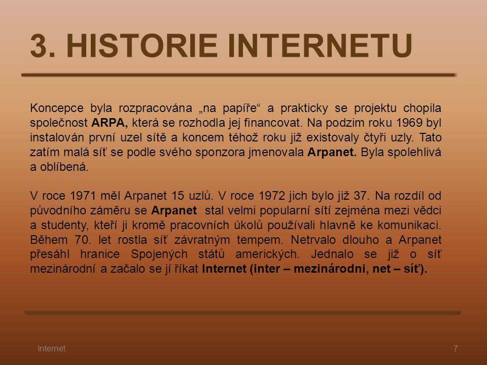 3. HISTORIE INTERNETU