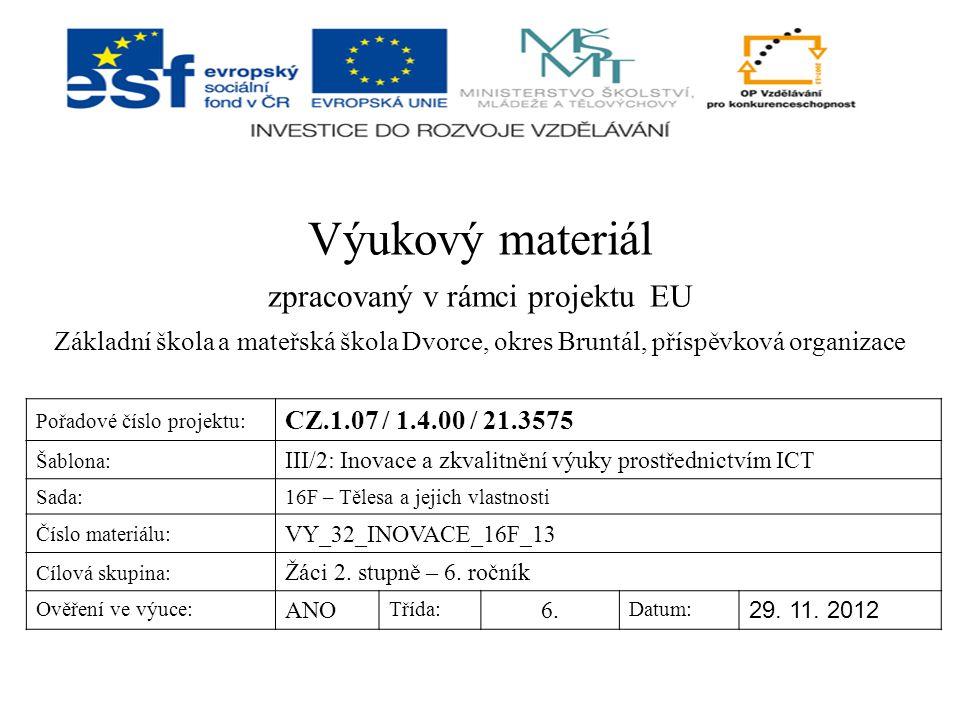 zpracovaný v rámci projektu EU