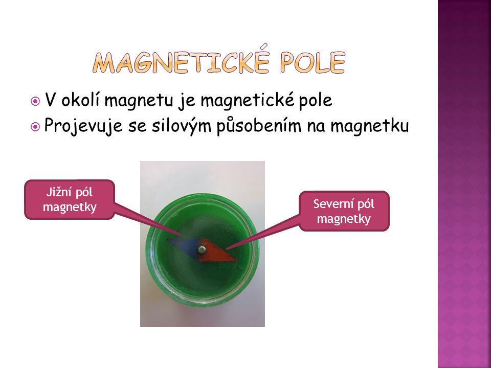 Magnetické pole V okolí magnetu je magnetické pole