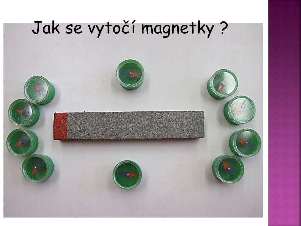 Jak se vytočí magnetky Odvodit se žáky vytočení magnetky kolem magnetu