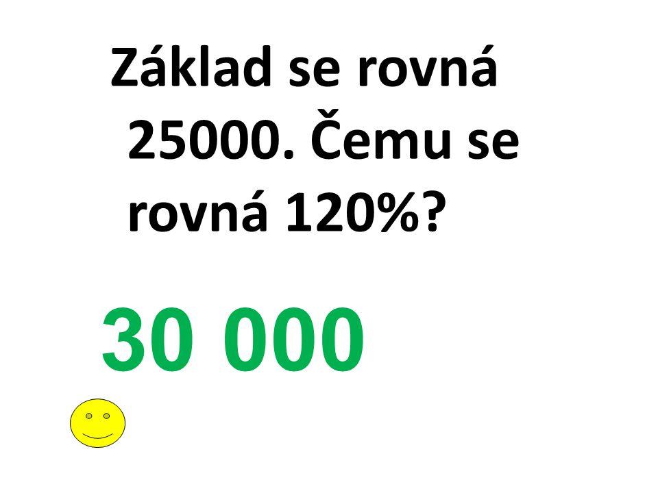 Základ se rovná 25000. Čemu se rovná 120%