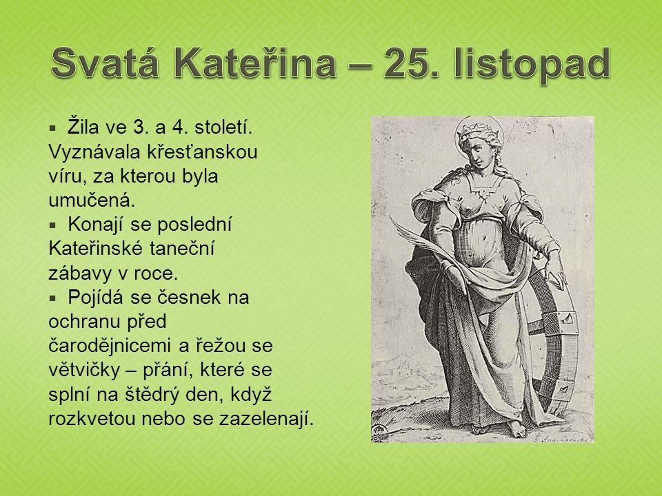 Svatá Kateřina – 25. listopad