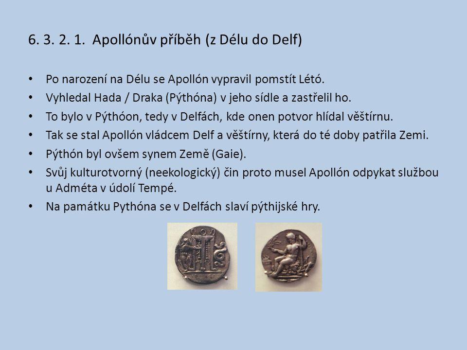 6. 3. 2. 1. Apollónův příběh (z Délu do Delf)